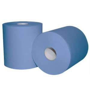 2-ply Centrefeed Rolls  Blue 150m   pk 6