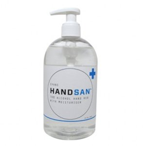 Evans Handsan hand sanitiser gel, 500ml pump