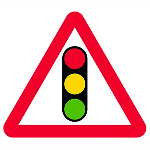 Traffic Signal Ahead Sign Plate (750mm Triangle)