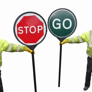 SIGNMARK - Stop-Go Pole, complete  (650mm)