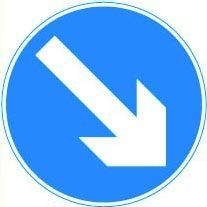 Directional arrow Right Sign Plate.