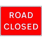 Road Closed Sign Plate (1050x750mm)